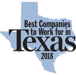 Best Companies to Work for in Texas Award 2018
